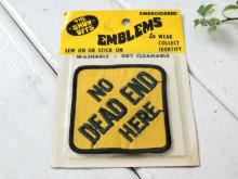 【NO DEAD END HERE・無限】メッセージ・ヴィンテージ・ワッペン・刺繍・エンブレム