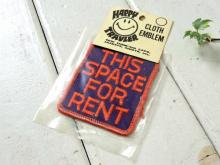 THIS SPACE FOR RENTメッセージ・ヴィンテージ・刺繍・ワッペン・デッドストック・US