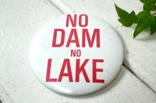 【NO DAM・NO LAKE】メッセージ・自然破壊・反対運動・ヴィンテージ・アメリカ・缶バッジ