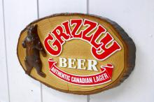 GRIZZLY BEER グリズリー 熊 アドバタイジング ヴィンテージ サイン 看板 ディスプレイ